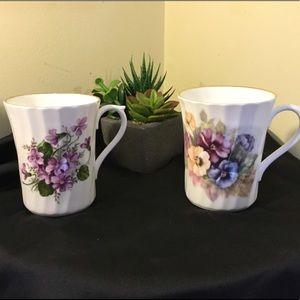 Vintage Royal Stuart Fine Bone China Cups